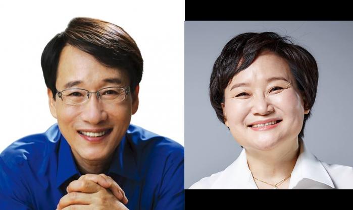더불어민주당의 이원욱 의원(왼쪽)과 문미옥 의원. - 이원욱 의원, 문미옥 의원 SNS 제공